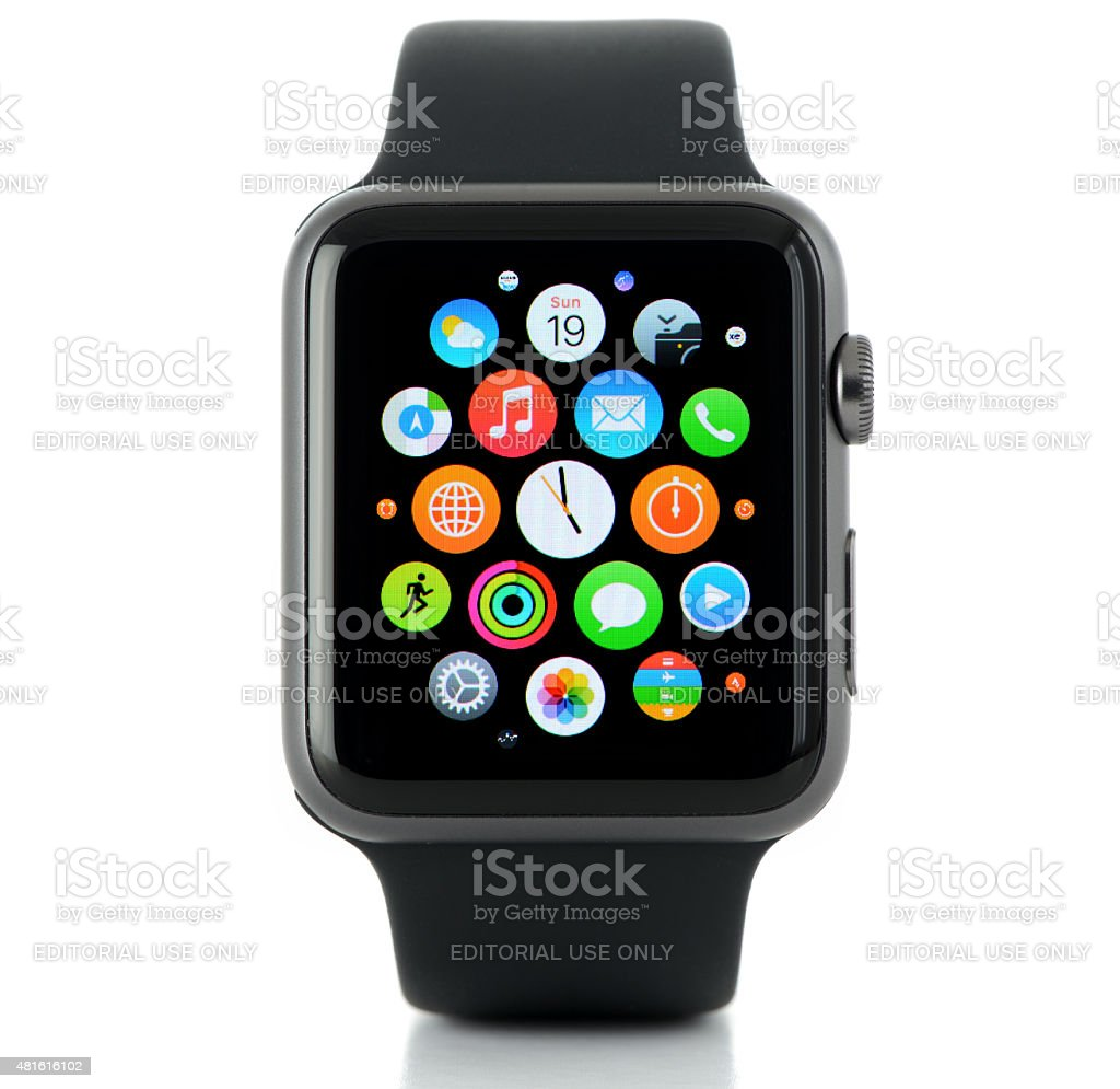 Apple Watch Sport stock photo