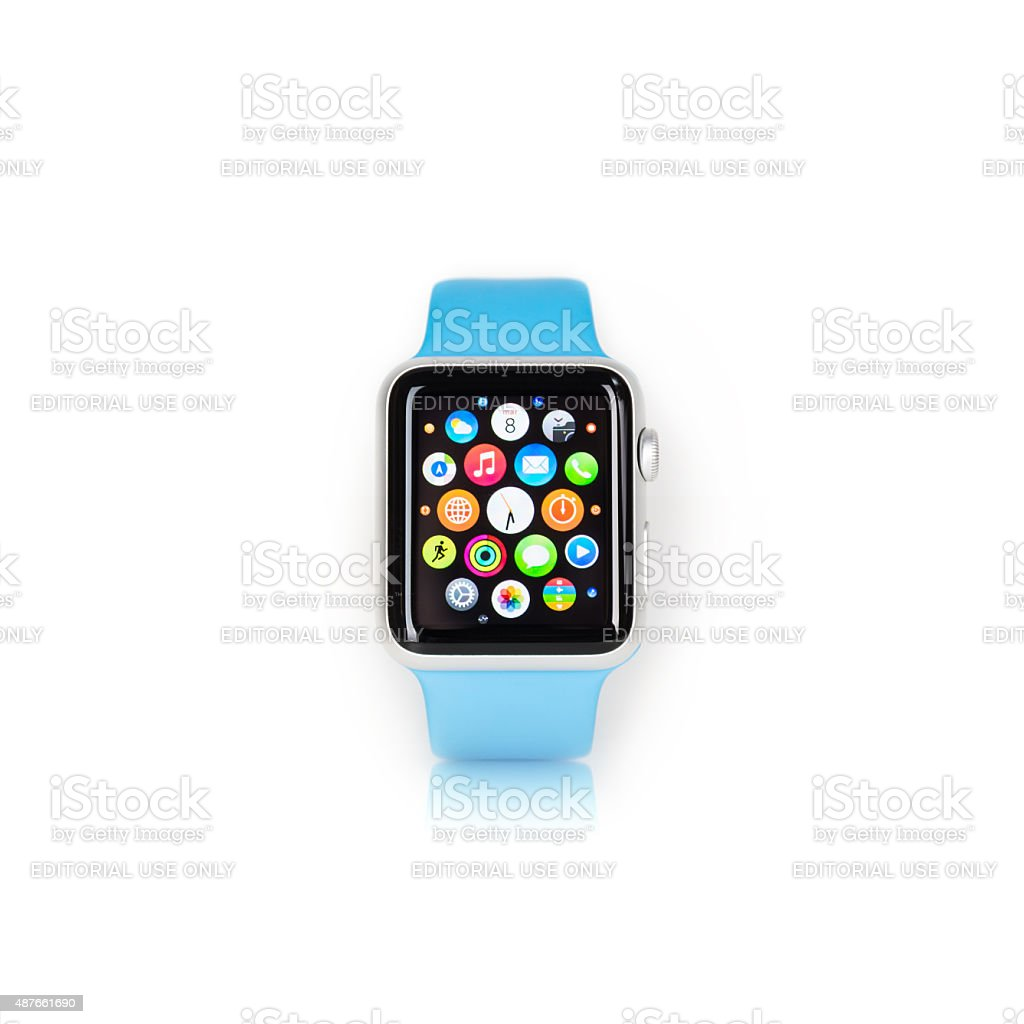 Apple Watch Sport stock photo