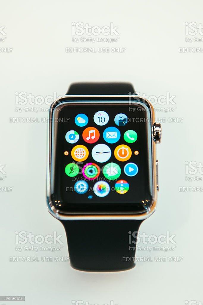 Apple Watch Starts Selling worldwide stock photo