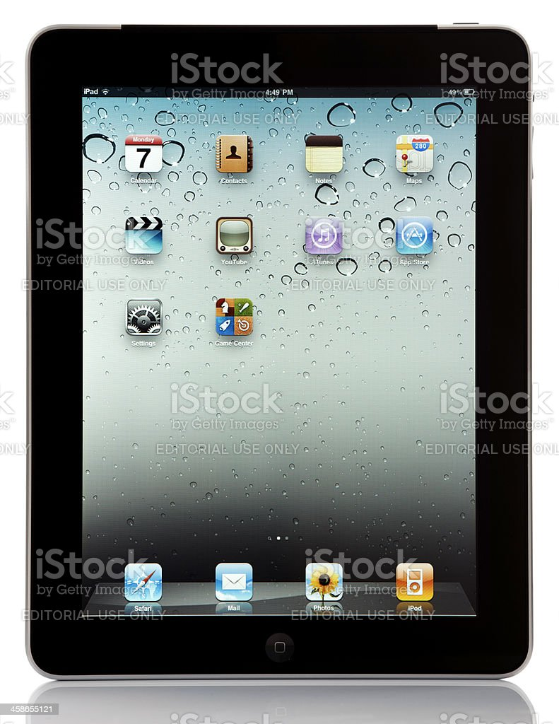 Apple Wi-Fi + 3G iPad royalty-free stock photo