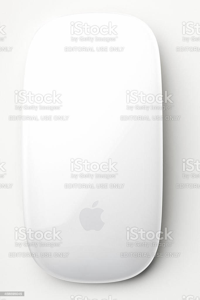 Apple Wireless Magic Mouse with clipping path royalty-free stock photo