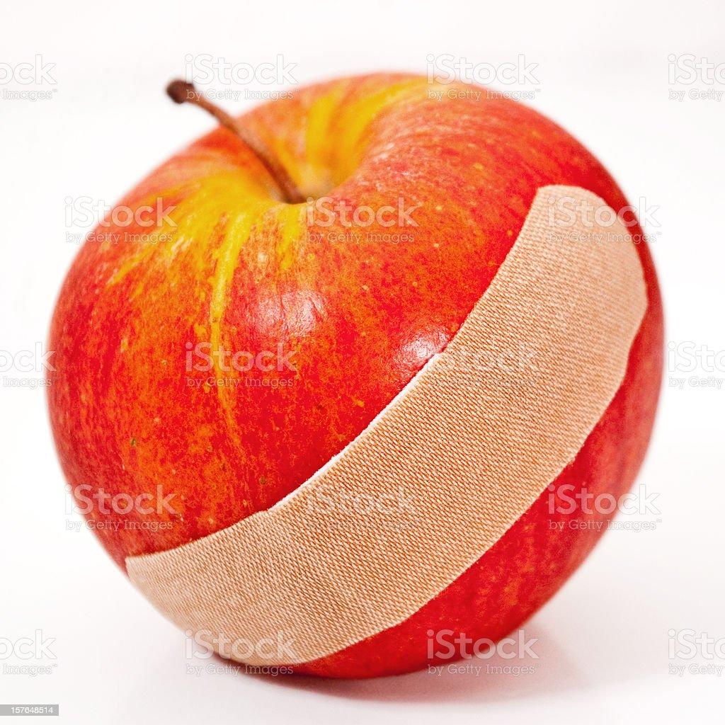 Apple with Bandage stock photo