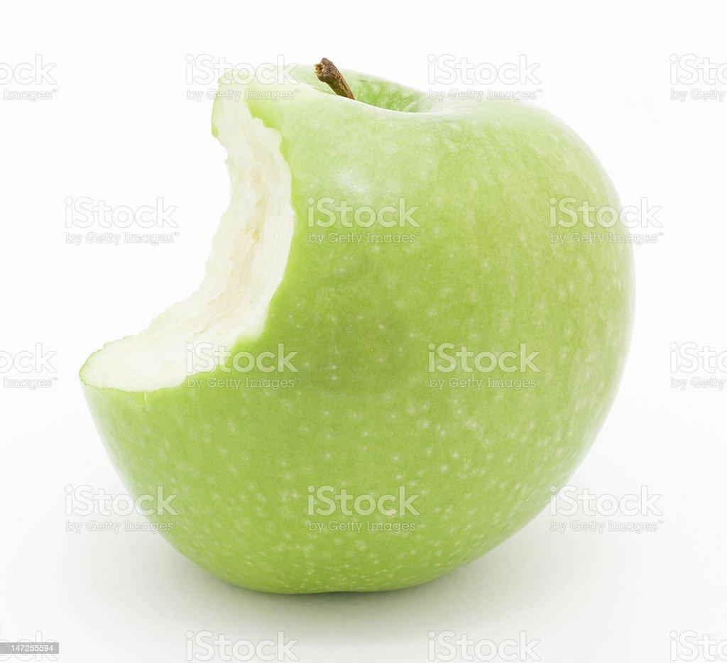 apple with bite stock photo
