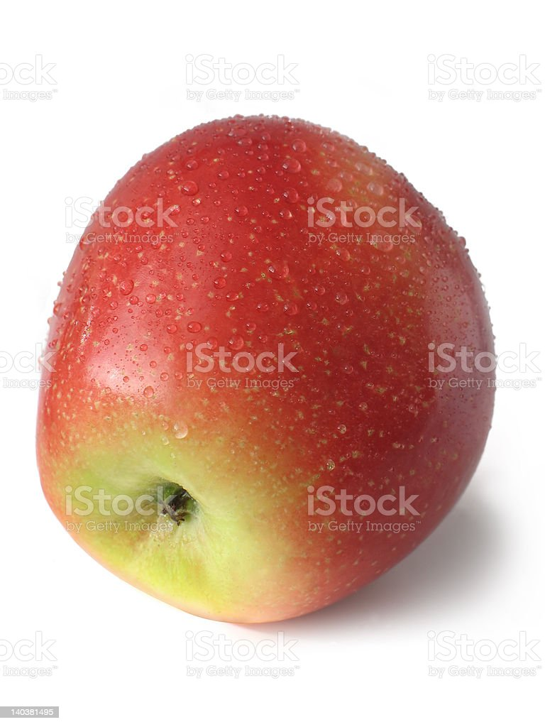 Apple With Drops (CloseUp) royalty-free stock photo