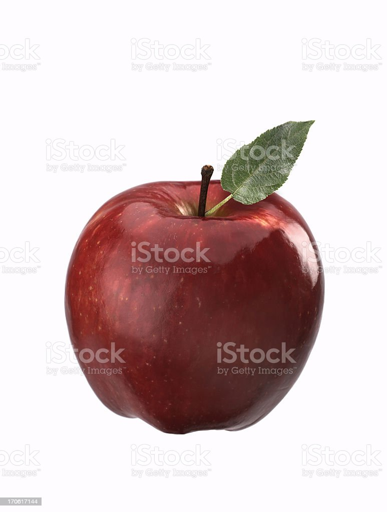 Apple with leaf royalty-free stock photo