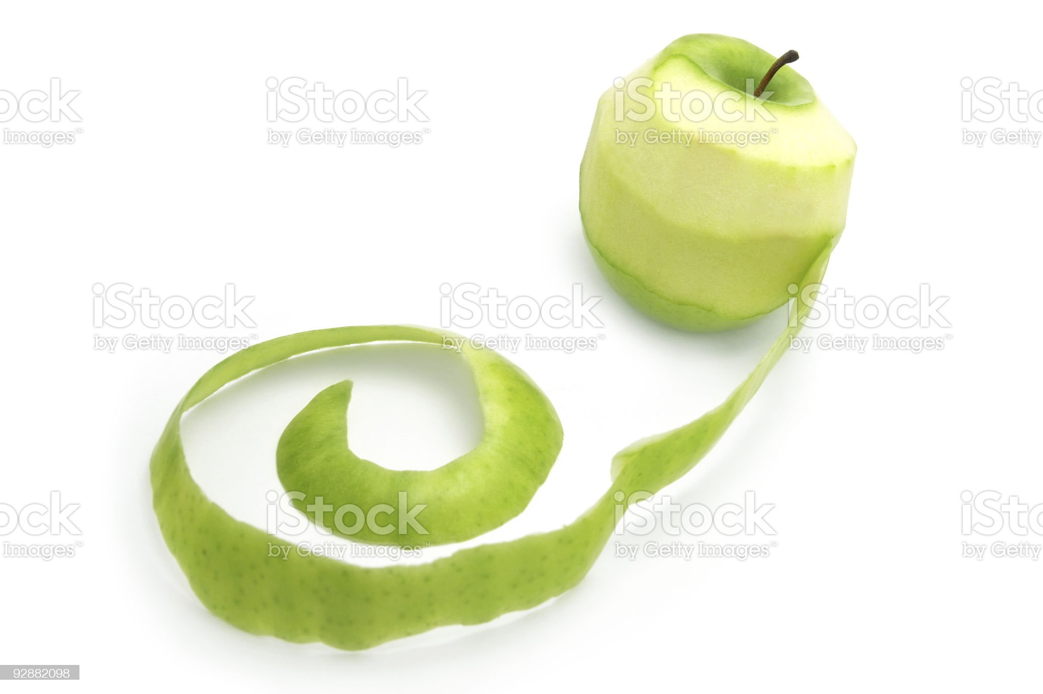 Apple with peelings royalty-free stock photo