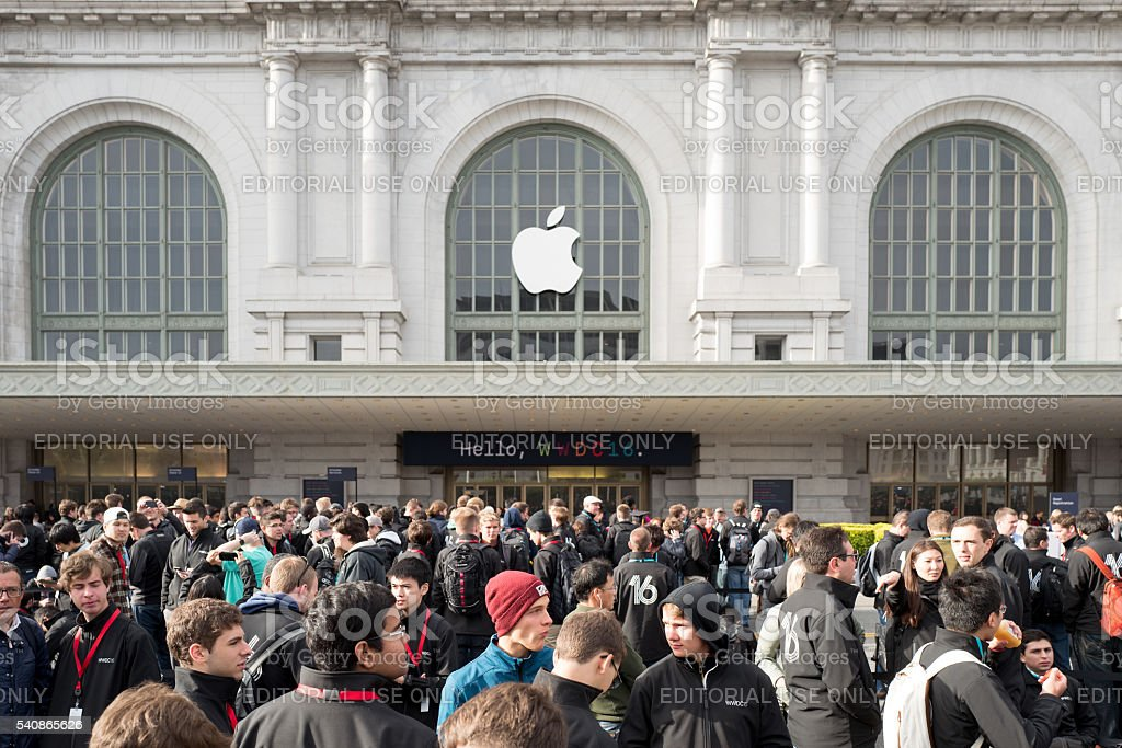 Apple Worldwide Developers Conference 2016 stock photo