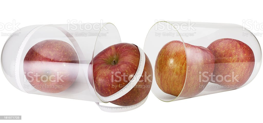 apples and a tape measure royalty-free stock photo