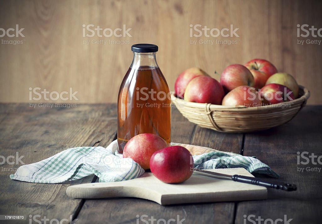 Apples and Apple Juice. stock photo