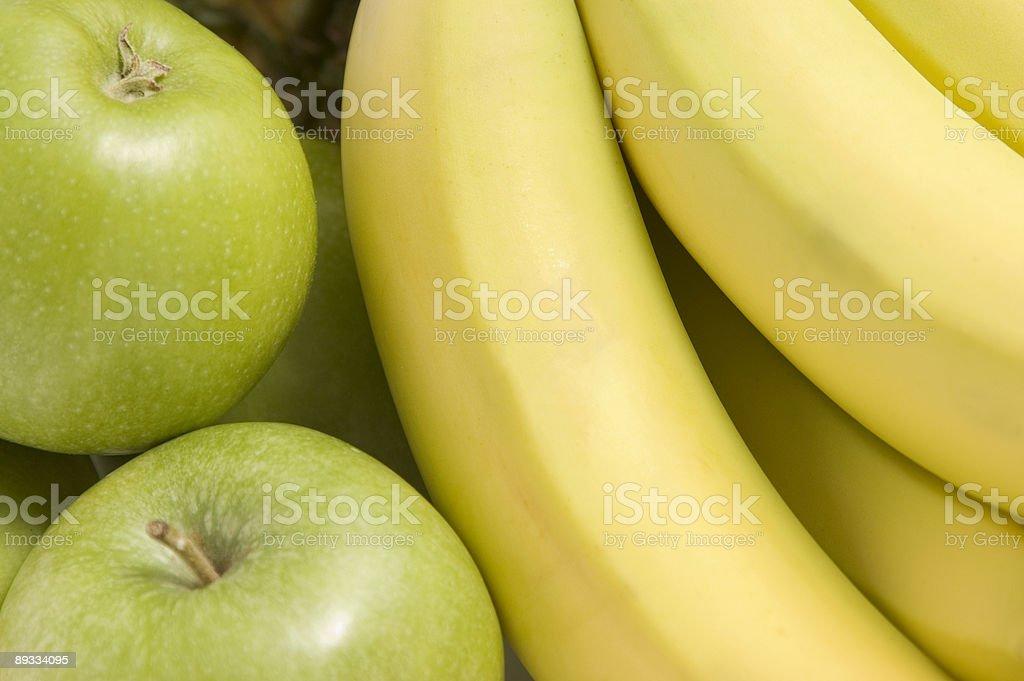 Apples and Bananas royalty-free stock photo