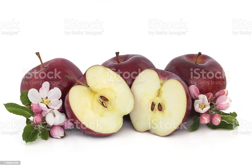 Apples and Flower Blossom stock photo