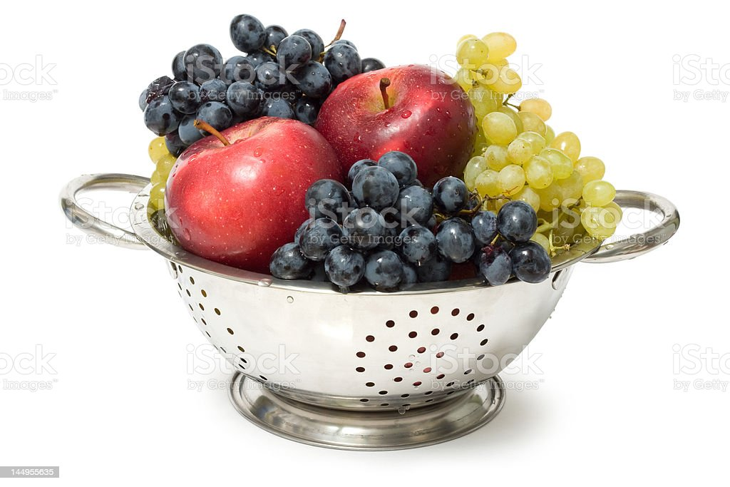 Apples and grapes royalty-free stock photo