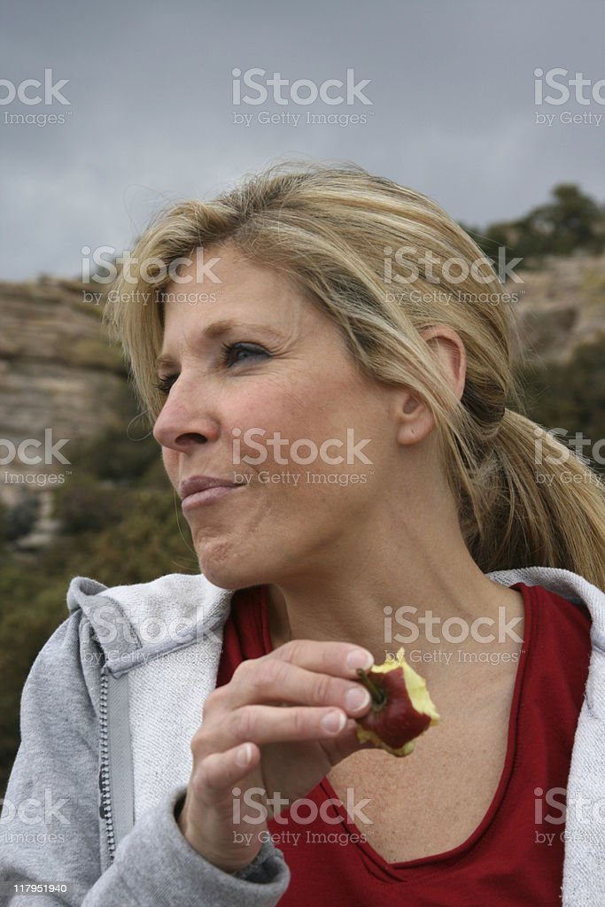 Apples and Hiking royalty-free stock photo