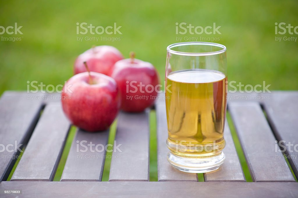 Apples and Juice stock photo
