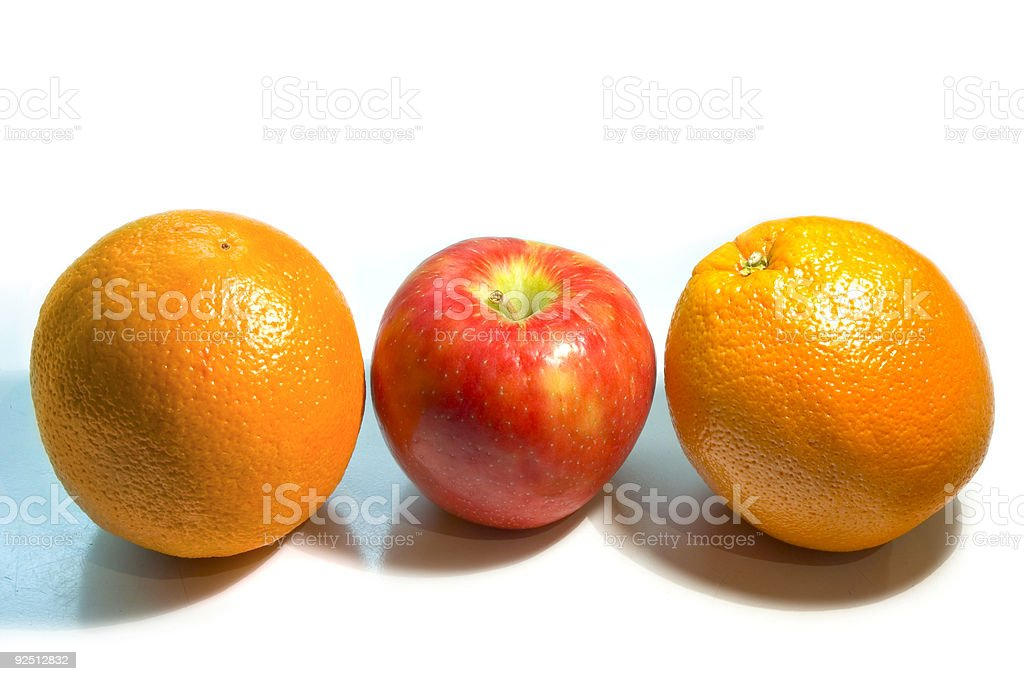 Apples and Oranges royalty-free stock photo