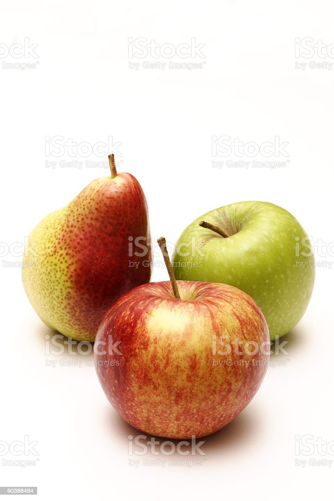 Apples and pear royalty-free stock photo