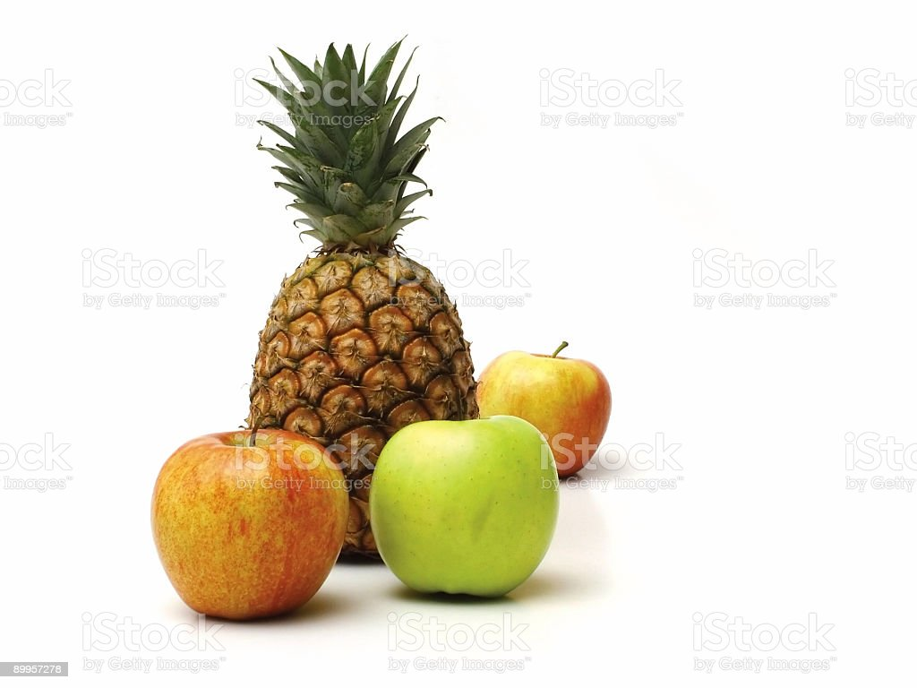 Apples and pineapple royalty-free stock photo