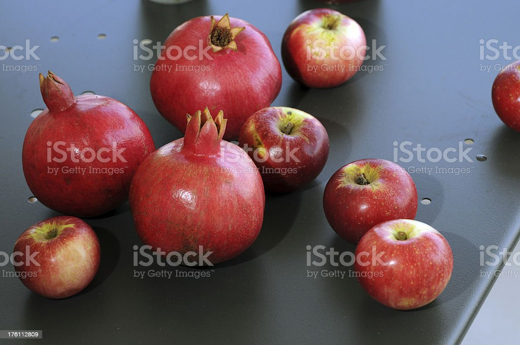 Apples and Pomegranates royalty-free stock photo