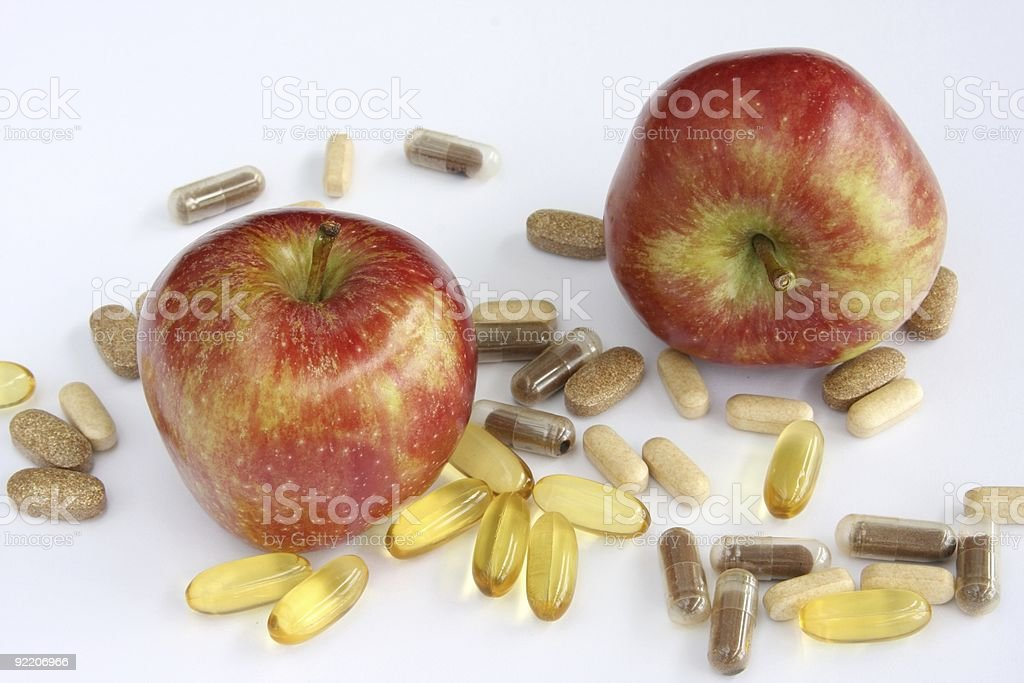 Apples And Vitamins royalty-free stock photo