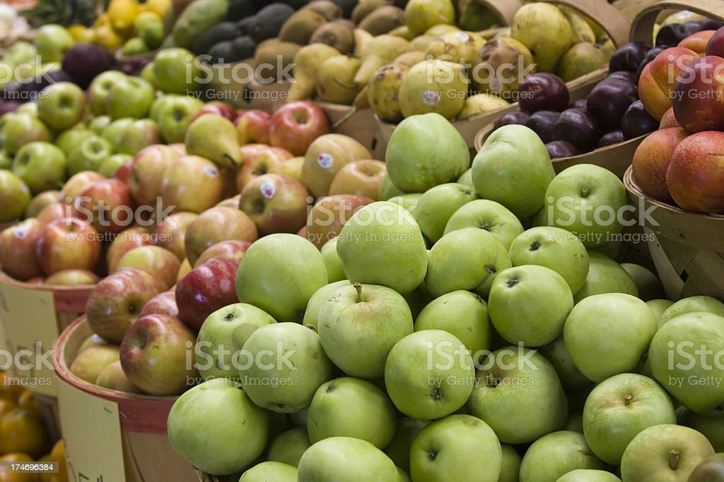 Apples at the Farmers' Market royalty-free stock photo