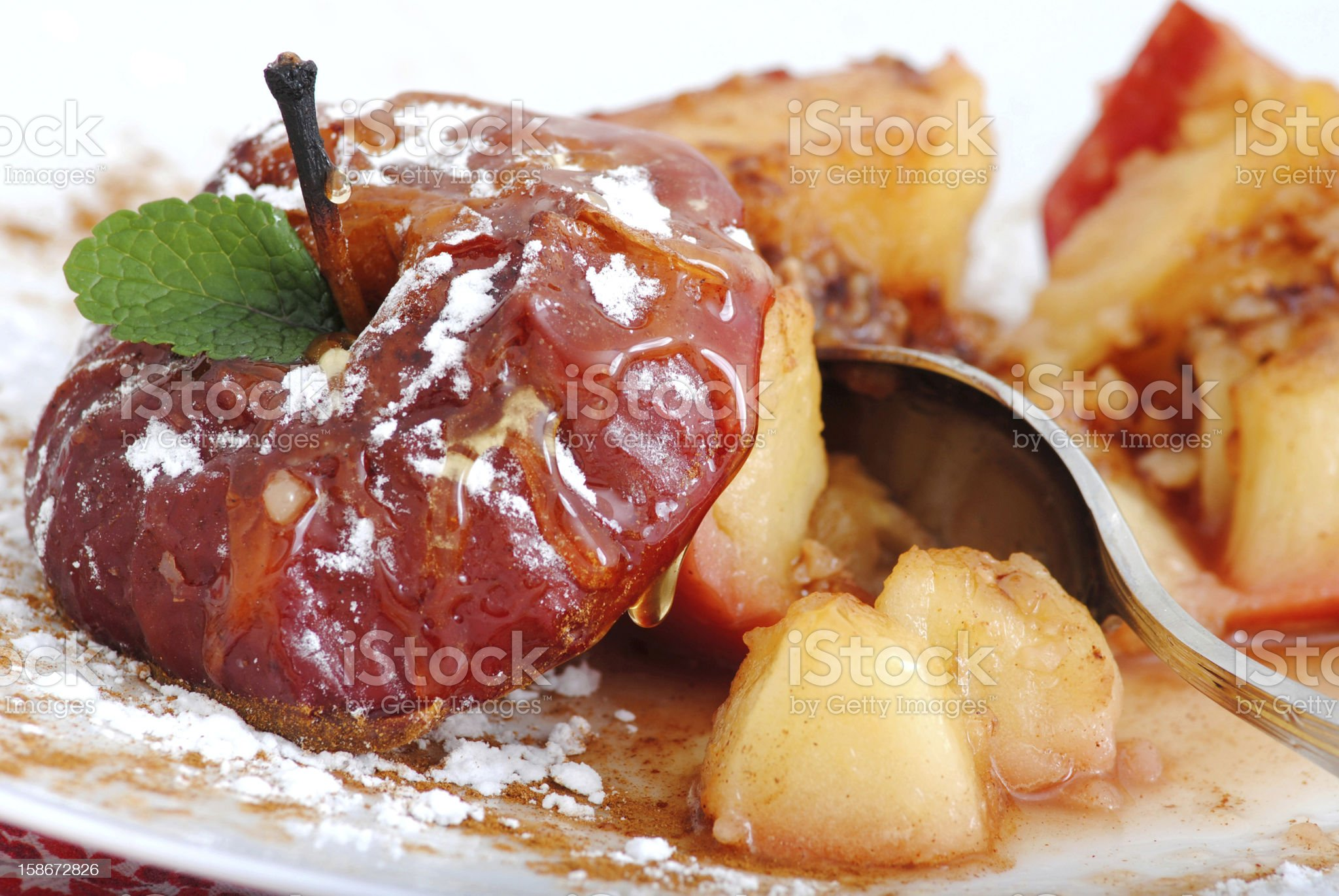 Apples baked desserts royalty-free stock photo