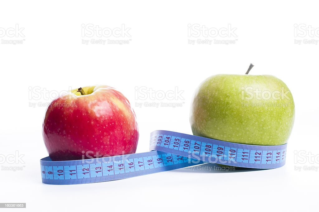Apples for diet royalty-free stock photo