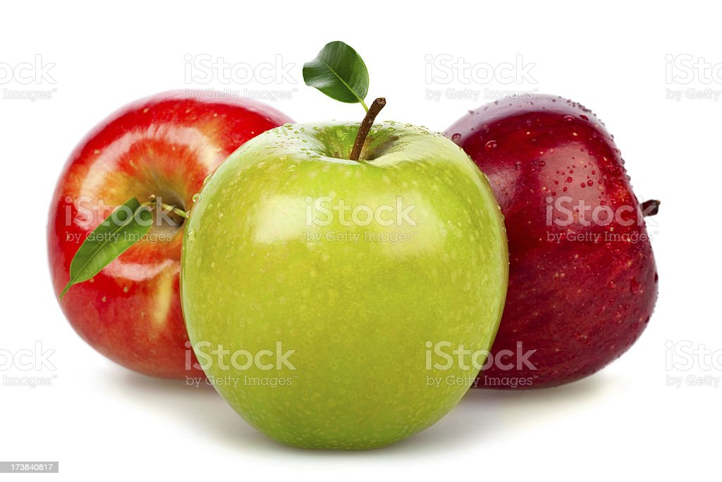 apples group fruit vegetable isolated on white royalty-free stock photo