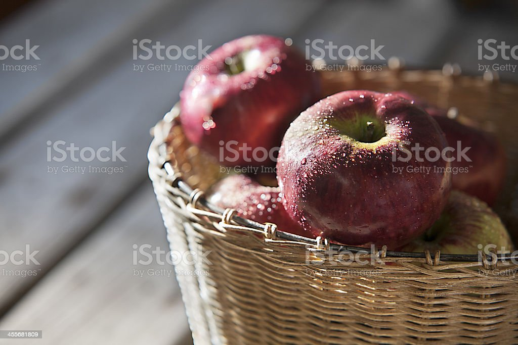 Apples in a Basket stock photo