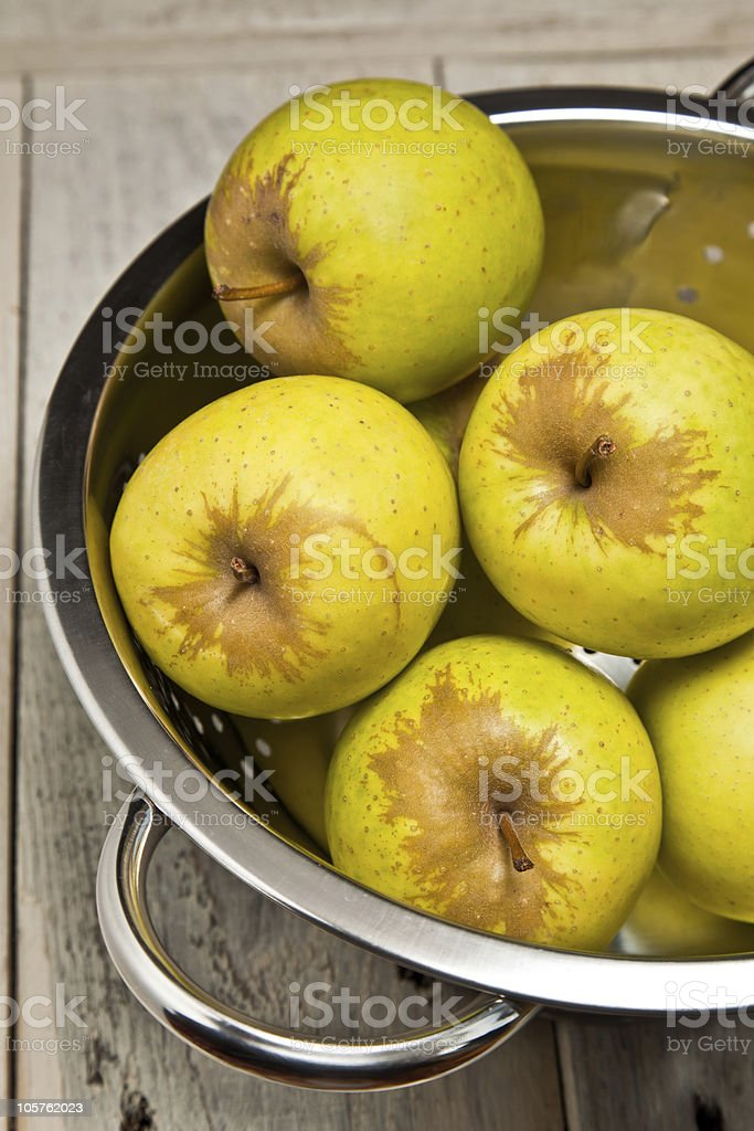 Apples in a colander royalty-free stock photo