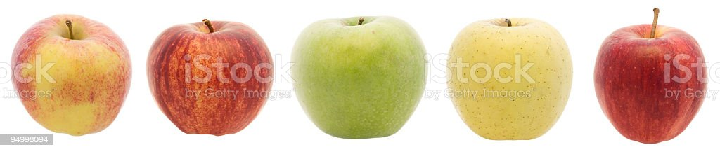 Apples in a row (XXL) royalty-free stock photo