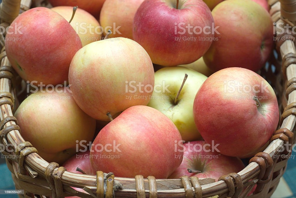 Apples in basket closeup royalty-free stock photo