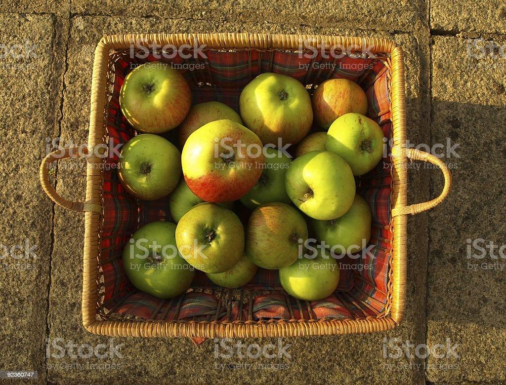 Apples in basket. stock photo