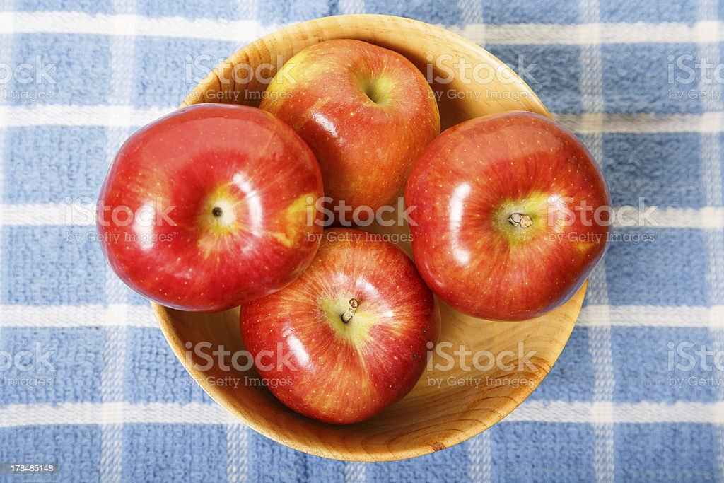 Apples in Bowl from Above royalty-free stock photo