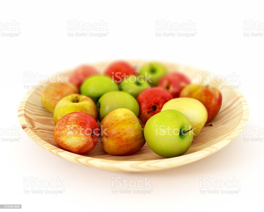 Apples in Fruit Bowl stock photo