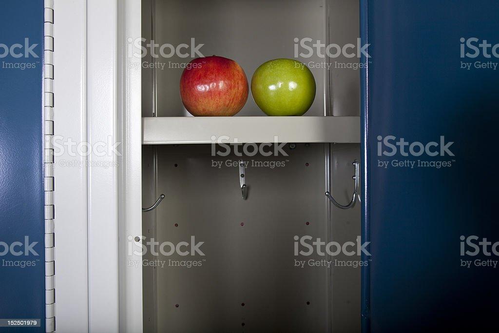 Apples in locker stock photo