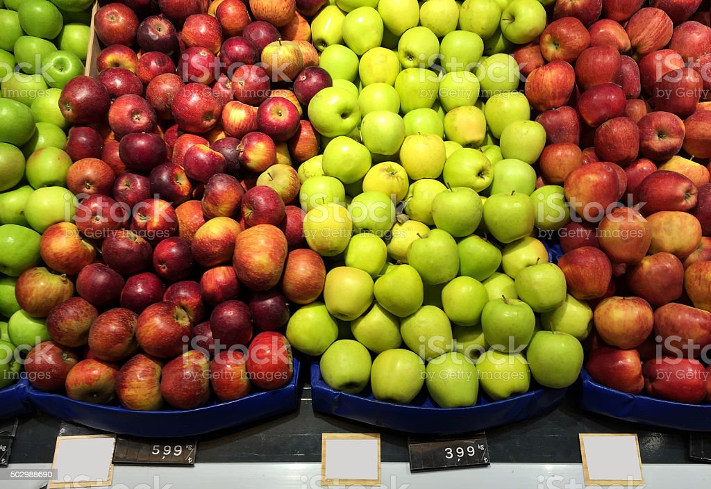 Apples in The Market stock photo