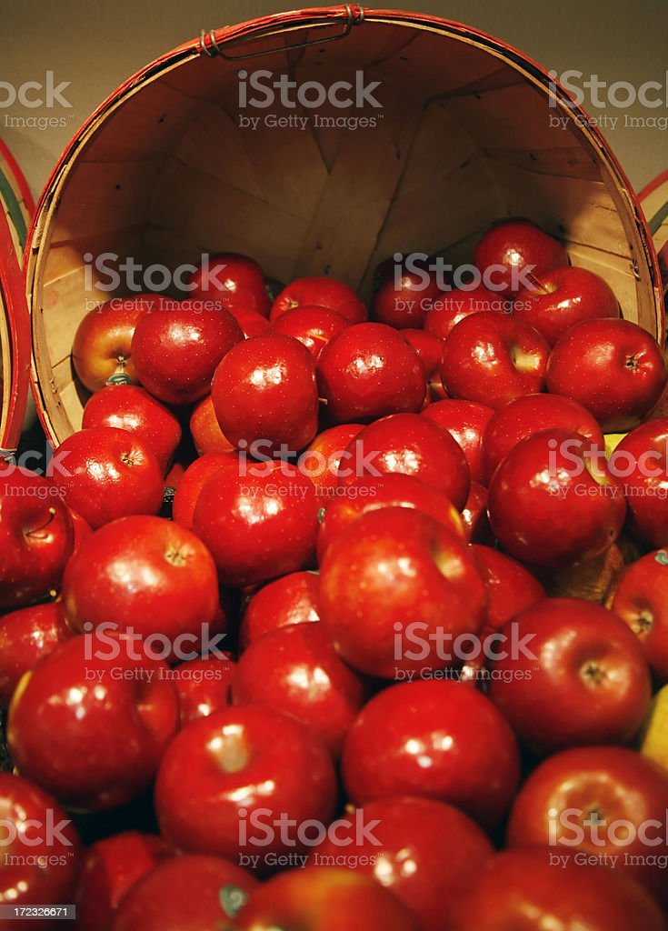 Apples in the store stock photo