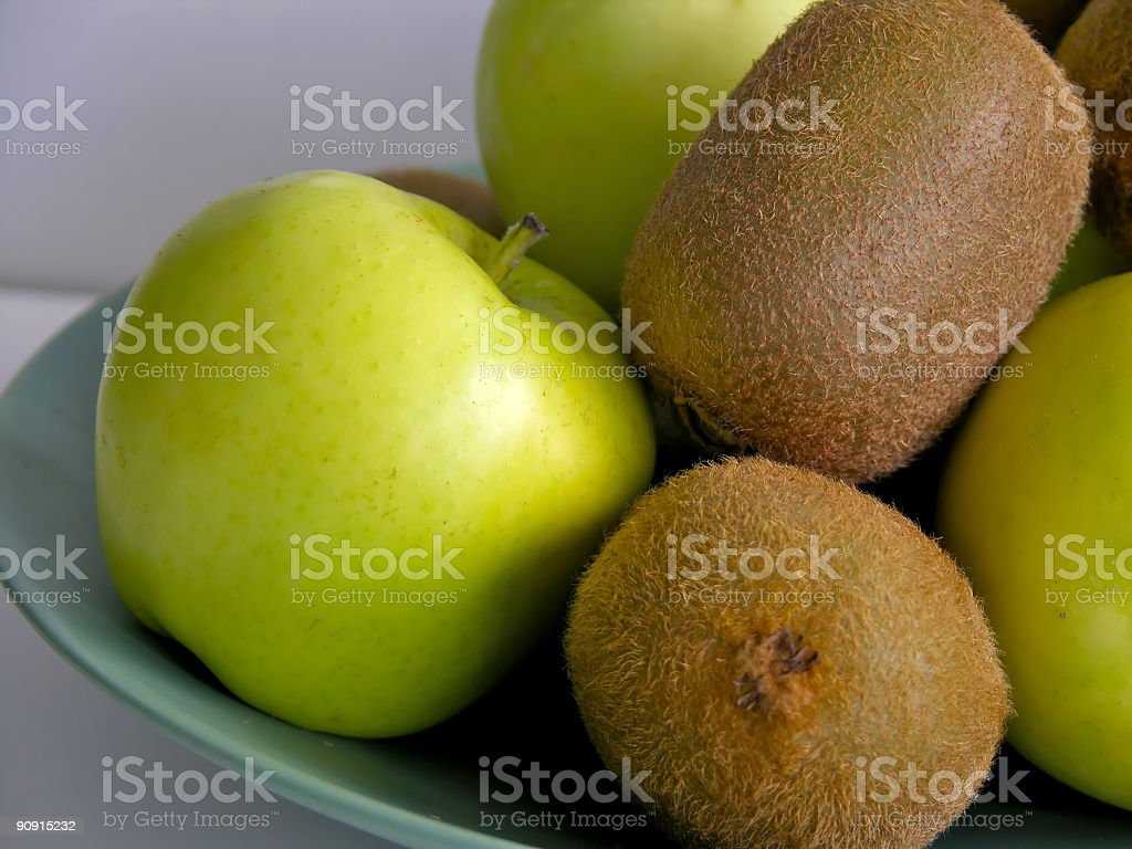 Apples & Kiwis stock photo