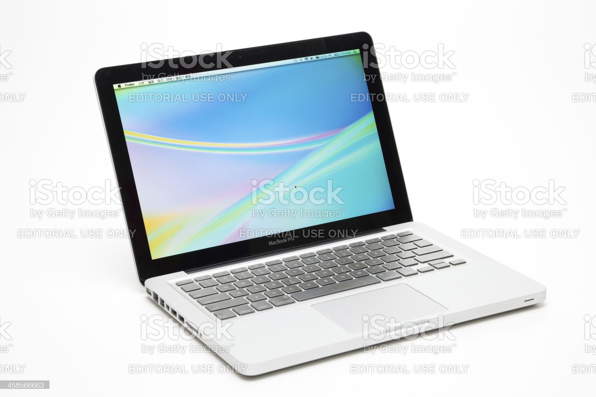 Apple's MacBook Pro royalty-free stock photo
