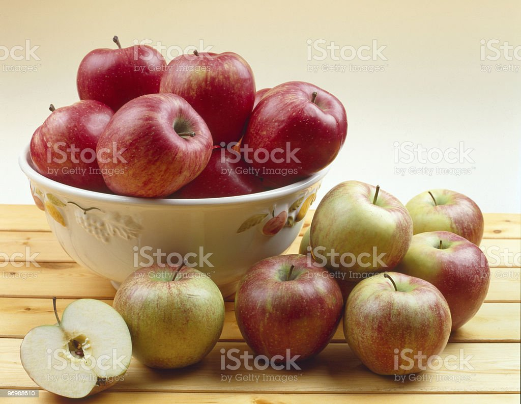 Apples on a table royalty-free stock photo