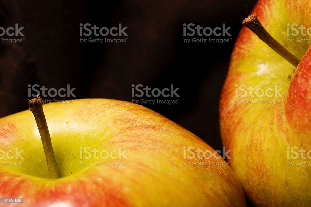 Apples on black royalty-free stock photo