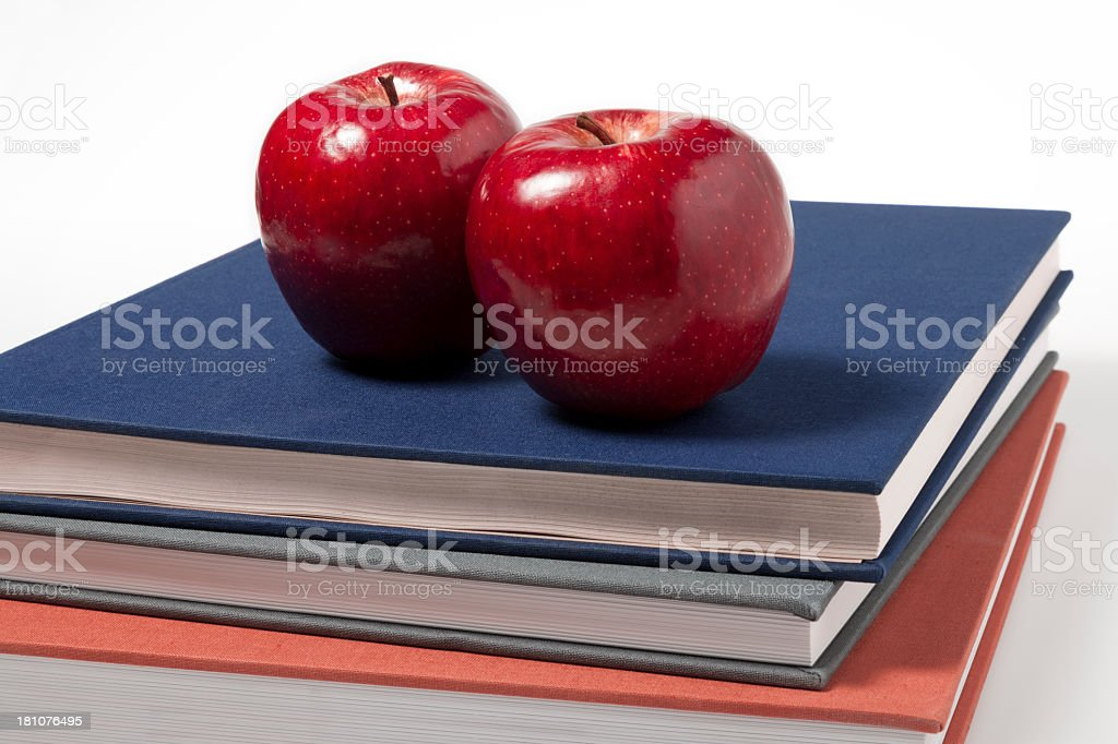 Apples On Books royalty-free stock photo