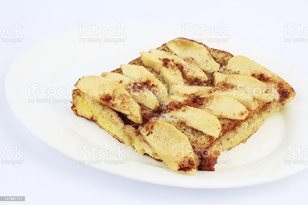 Apples on French Toast royalty-free stock photo