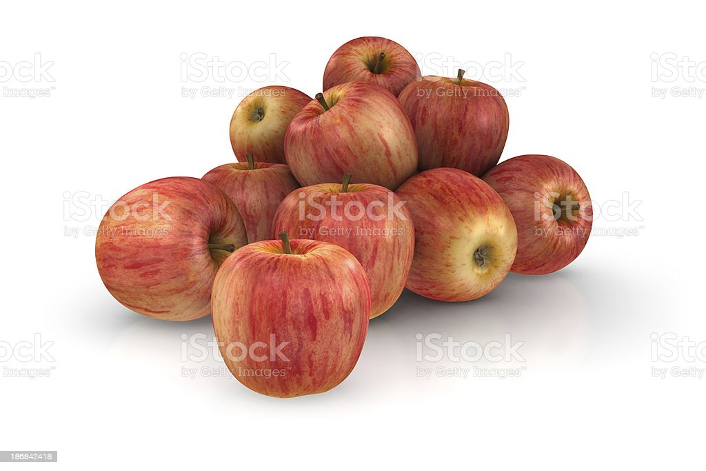 3D Apples stock photo