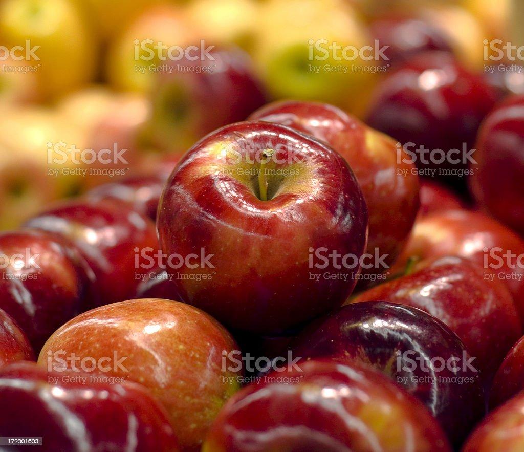 Apples Supermarket Grocery Store Market Fresh Fruit Display royalty-free stock photo
