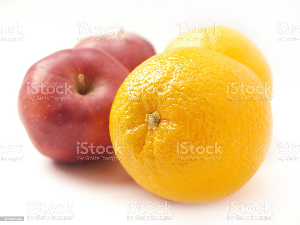 apples to oranges royalty-free stock photo