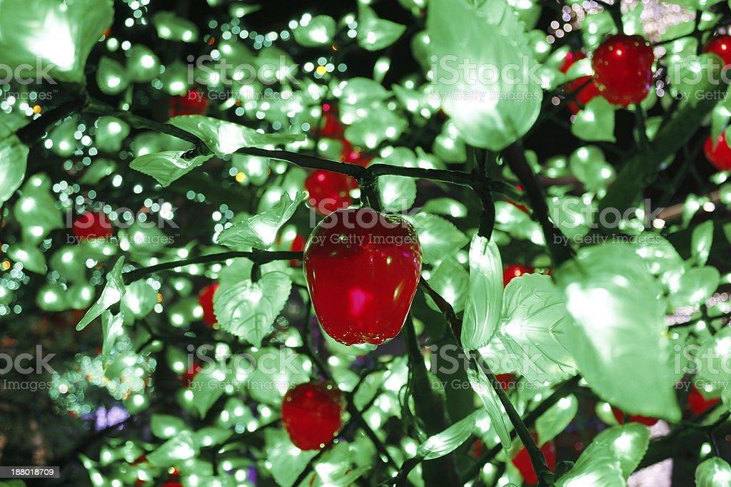 LED apples tree stock photo