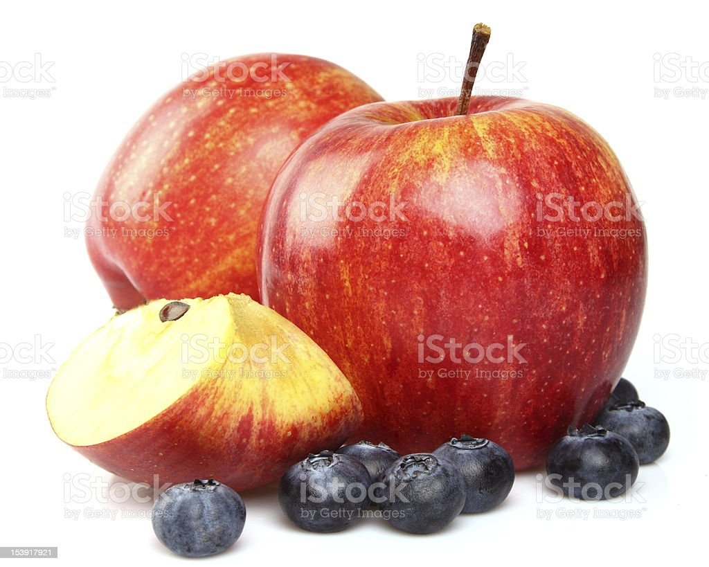 Apples with blueberry royalty-free stock photo