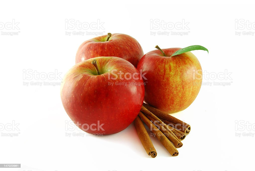 Apples with cinnamon royalty-free stock photo