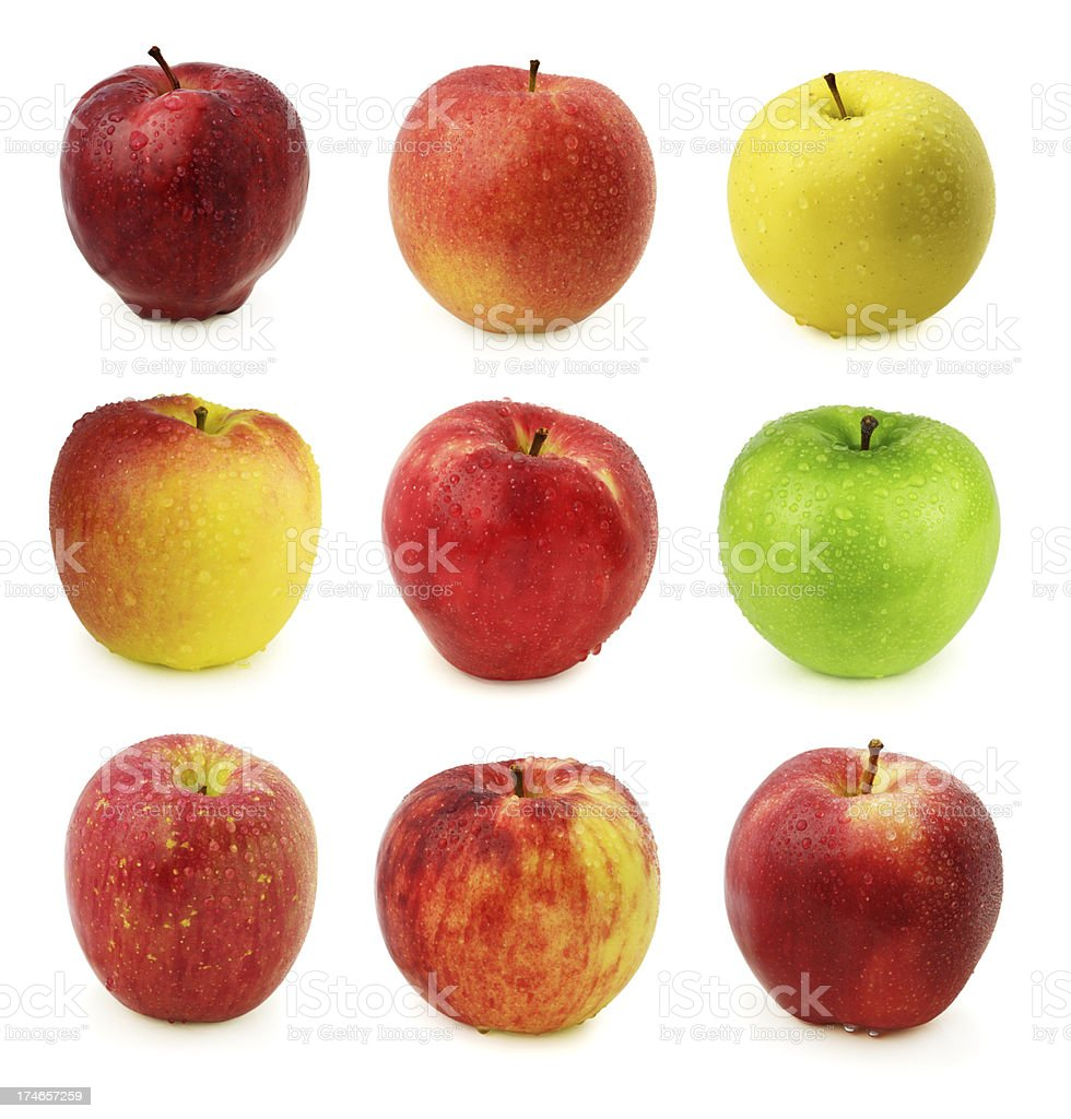 Apples with water drops (XXL) royalty-free stock photo